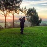 golfer-at-dusk